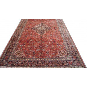 155 Antique 10x18 Foot Hand-Knotted Persian Rug