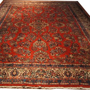 118 Circa 1940 10x14 Foot Hand-Knotted Persian Rug,
