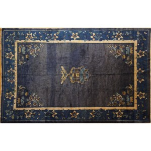 114 Antique 6x9 Foot Hand-Knotted Oriental Rug,