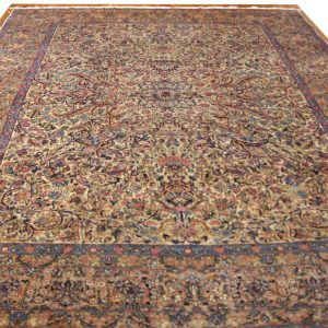154 Antique 10x13_ Foot Hand-Knotted Persian Rug,