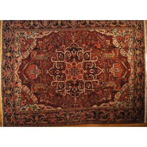 132 Circa 1940 11_x15 Foot Hand-Knotted Persian Rug,