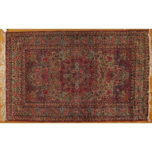 134 Antique 5x7 Foot Hand-Knotted Persian Rug,