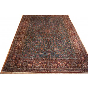 121 Antique 11x14_ Foot Hand-Knotted Persian Rug,