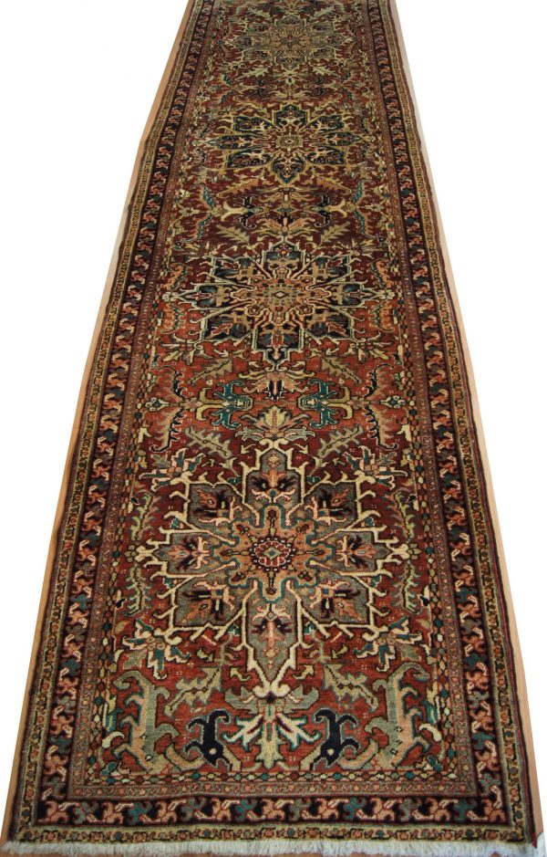 132 Circa 1940 3_x15 Foot Hand-Knotted Persian Runner,
