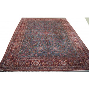 131 Antique 11x14_ Foot Hand-Knotted Persian Rug,