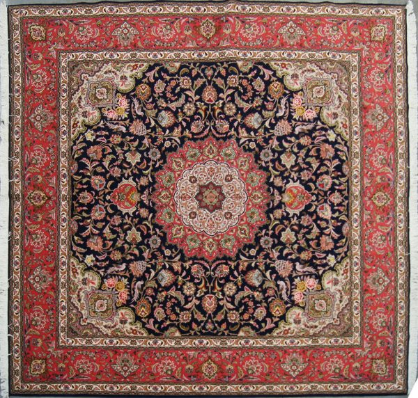 144 New 8x8 Foot Hand-Knotted Persian Rug,