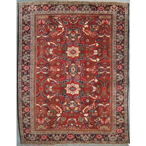123 Circa 1940 8x10 Foot Hand-Knotted Iranian Rug,