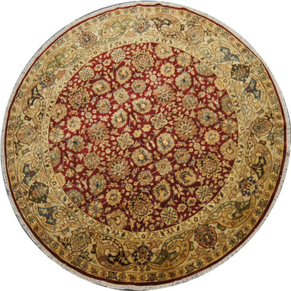 142 New 10 Foot Diameter Hand-Knotted Round Oriental Rug