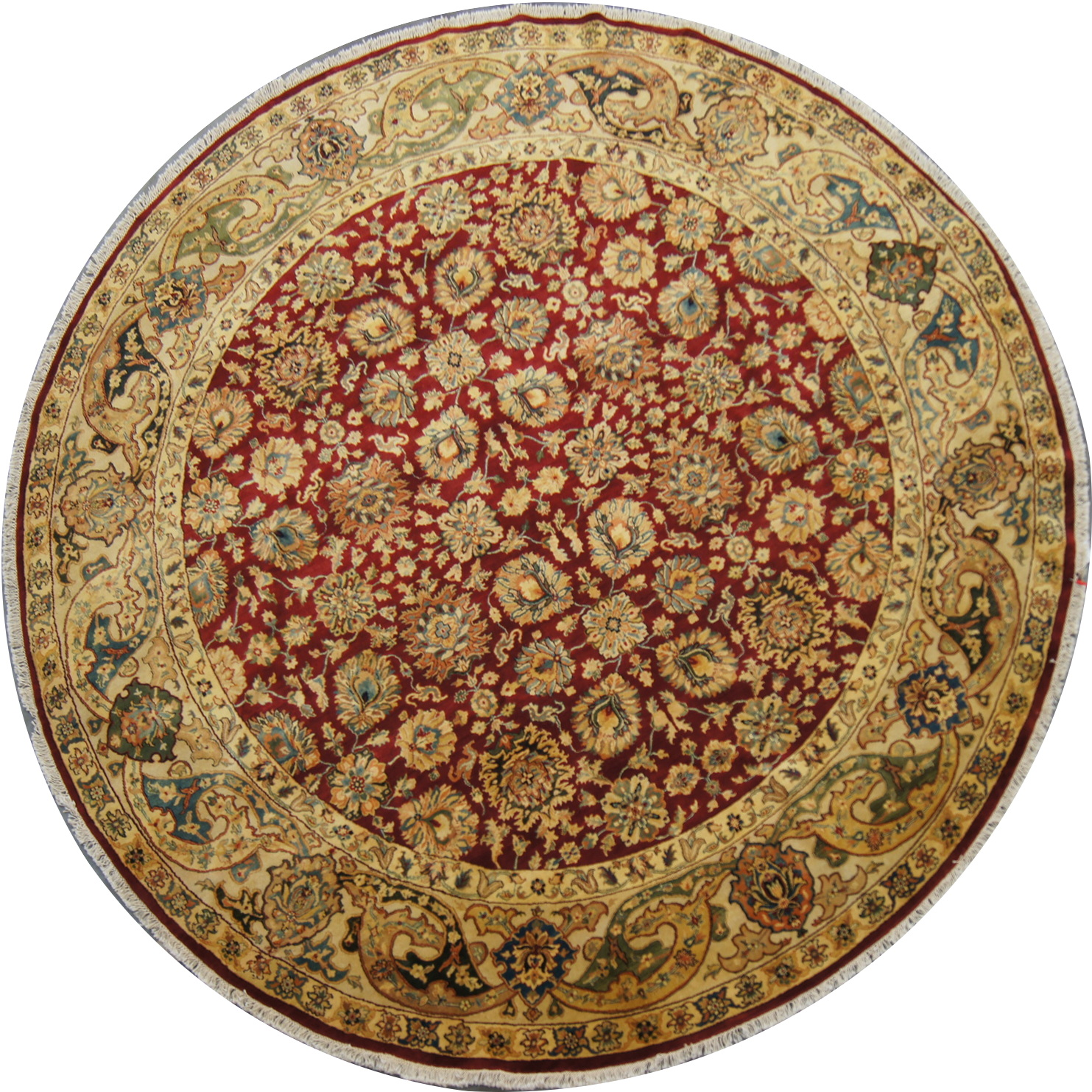 142 New 10 Foot Diameter Hand Knotted Round Oriental Rug