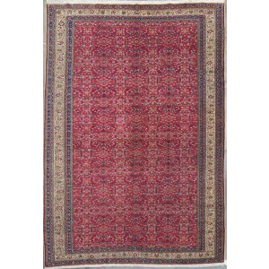 127 Circa 1950 6_x9_ Foot Hand-Knotted Oriental Rug